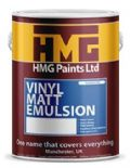 HMG Vinyl Matt Emulsion mixed to colour of your choice 5lt